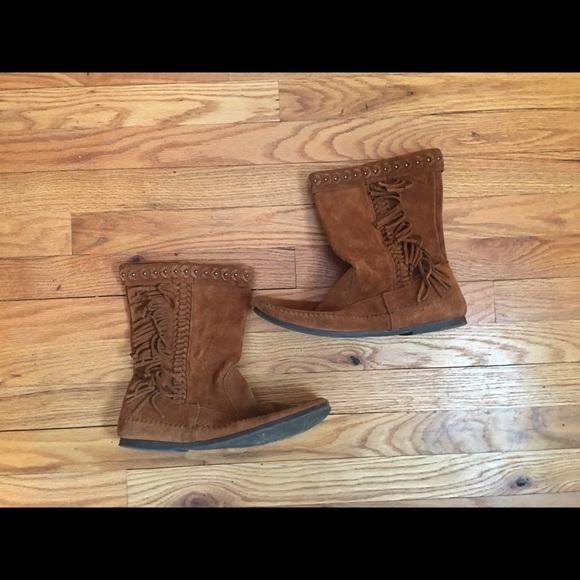 Minnetonka Shoes - Vintage MINNETONKA brown suede boots❤️